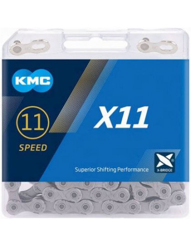 KMC ketting X11 silver/grey 118s