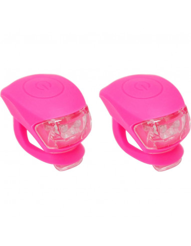 UP Siliconen LED Fietslampjes set Pink