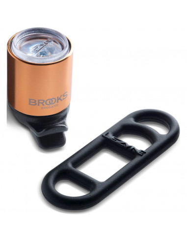 Brooks koplamp Lezyne koper