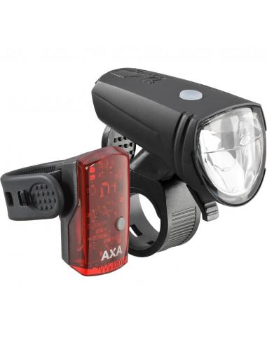 Axa verlichting set Greenline 25 Lux Usb