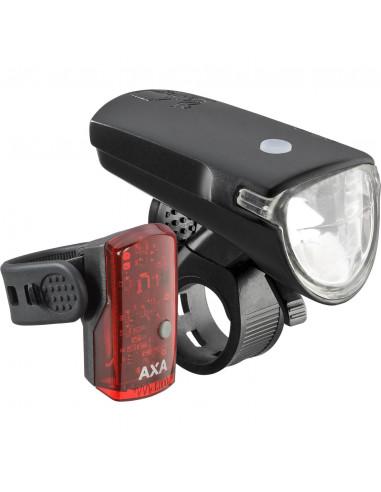 Axa verlichting set Greenline 40 Lux Usb