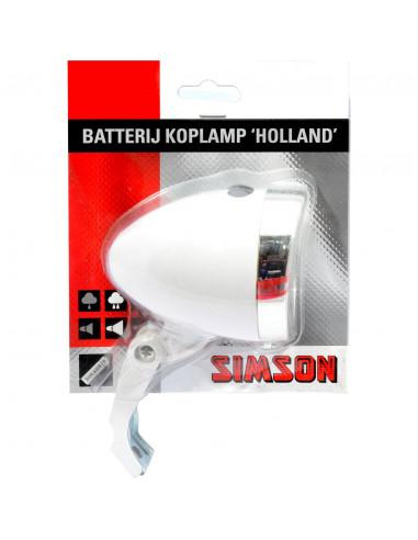Simson koplamp Holland batt aan/uit wt