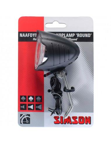Simson koplamp Round 7 lux dyn aan/uit