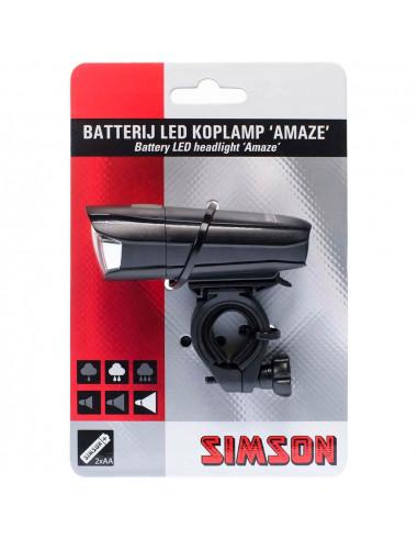 Simson koplamp Amaze 25 lux batt