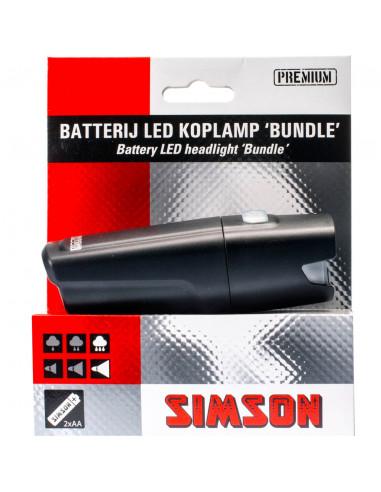 Simson koplamp Bundle led 25 lux batt