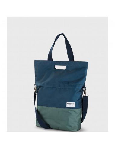 UP shoppertas 20L recycled blauw groen