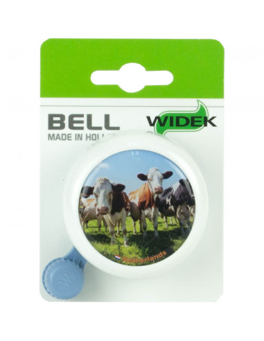 Widek bel met koeien op kaart